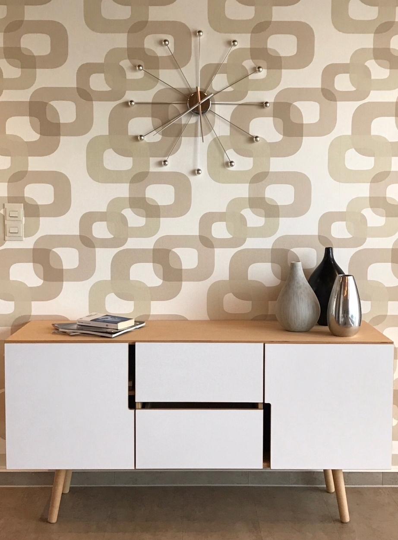 Sideboard MAN in weiß & Holz skandinavisches Design
