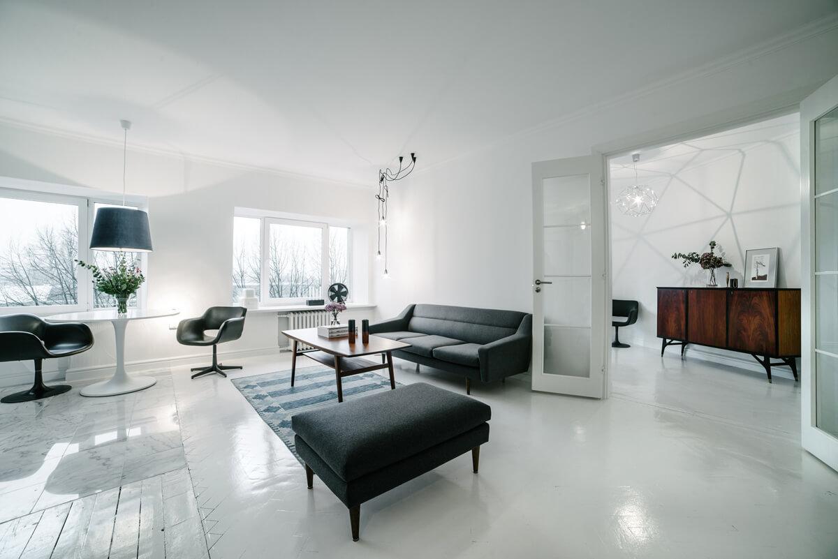 Der Umbau und die Renovierung der alten Wohnung erfolgten in mehreren ...