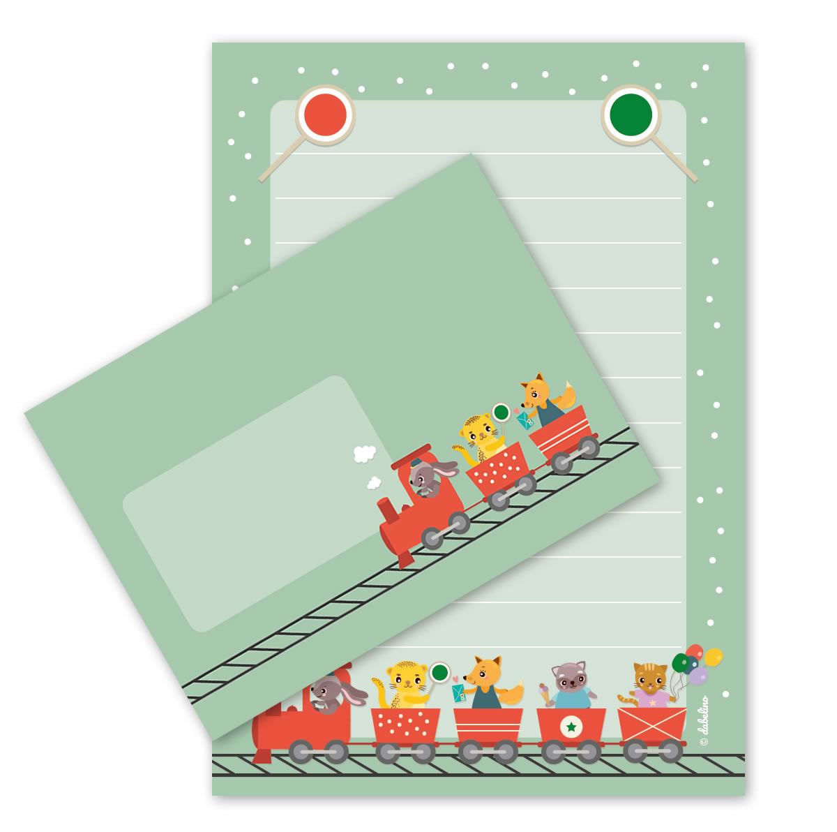 Kinder-Briefpapier-Set: Eisenbahn | Jetzt im dabelino Shop entdecken