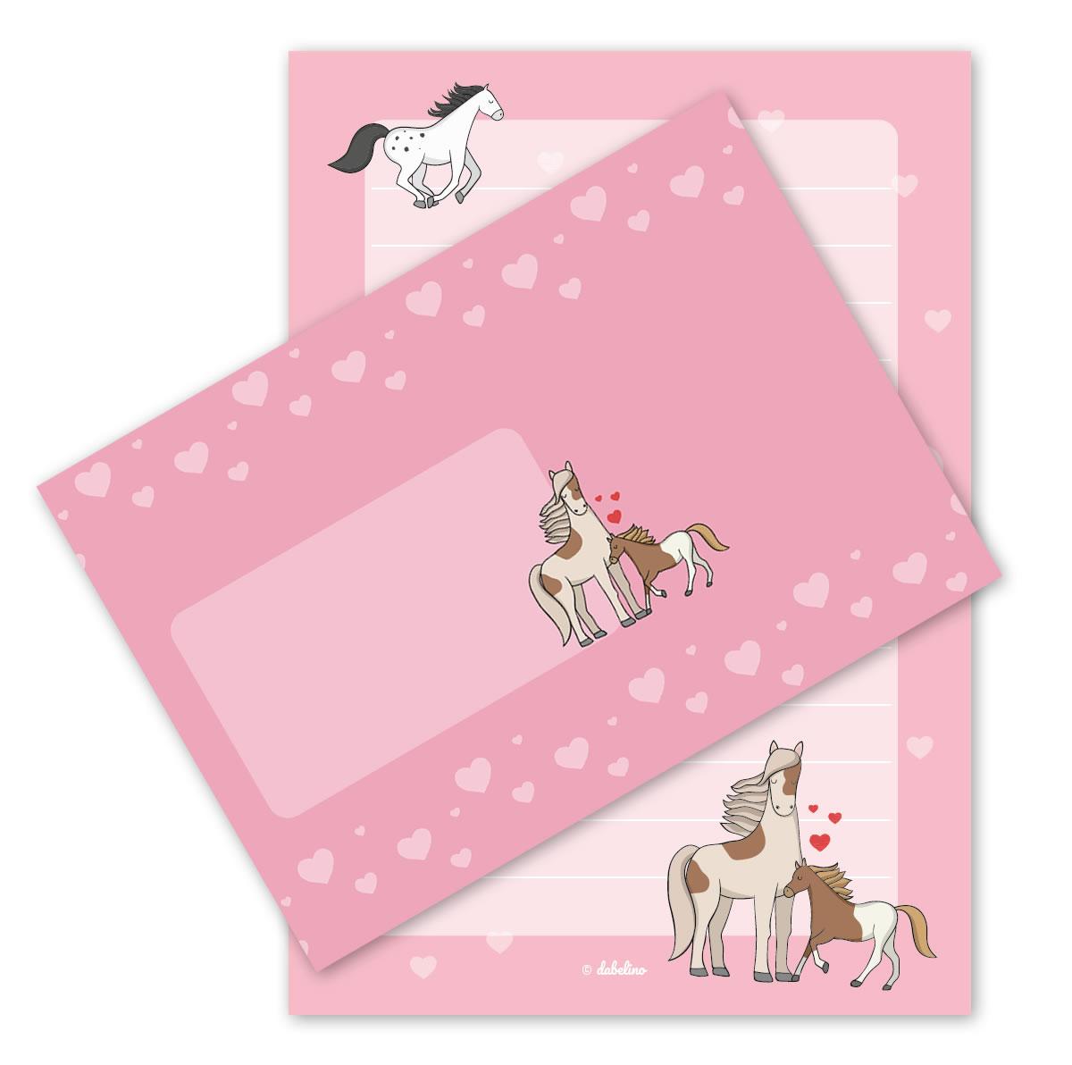 Kinder-Briefpapier-Set: Pferde| Jetzt im dabelino Shop entdecken