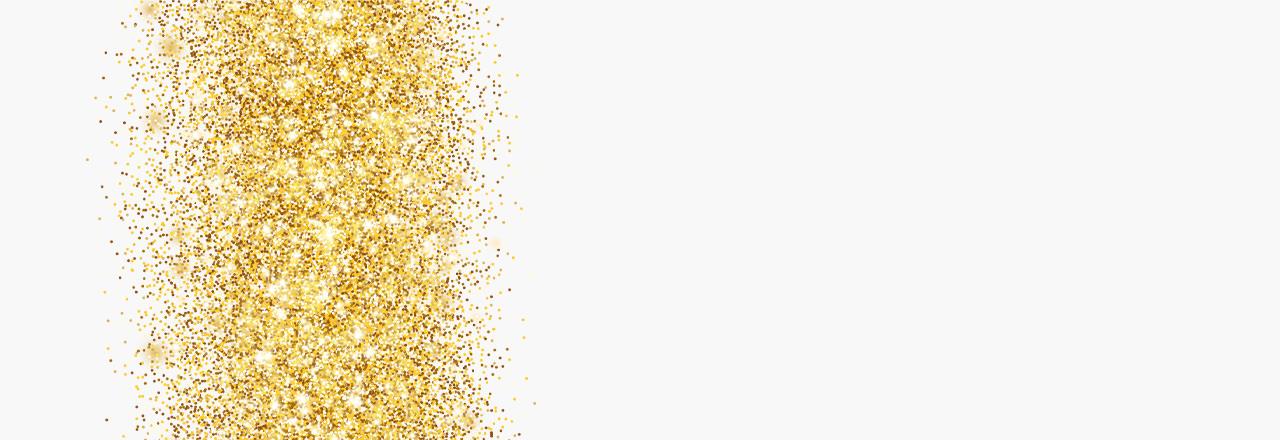 Glitter in Gold