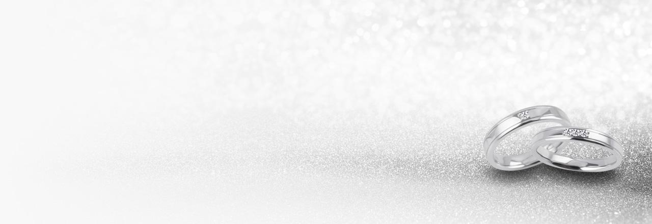 Silberne Ringe, Platinringe, Eheringe in Silber