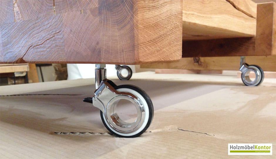 Balken tisch for Holzklotz als beistelltisch