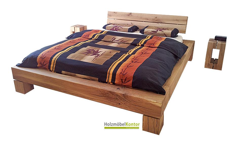 balkenbett holzblock shop. Black Bedroom Furniture Sets. Home Design Ideas