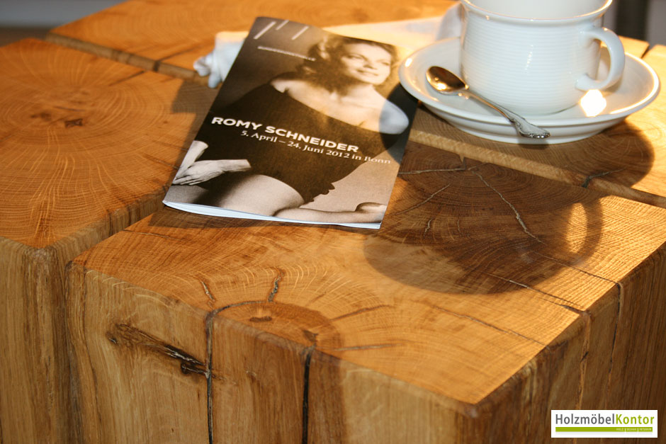 Coffee table for Beistelltisch holzklotz