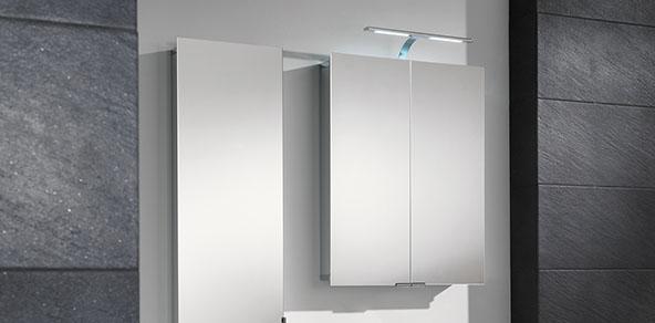 HSK ASP 300 LED Alu-Spiegelschränke