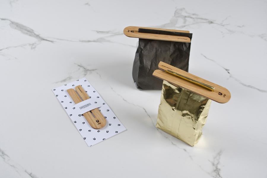 Nachhaltiger Holzverschluss für Tee- und Kaffeebeutel