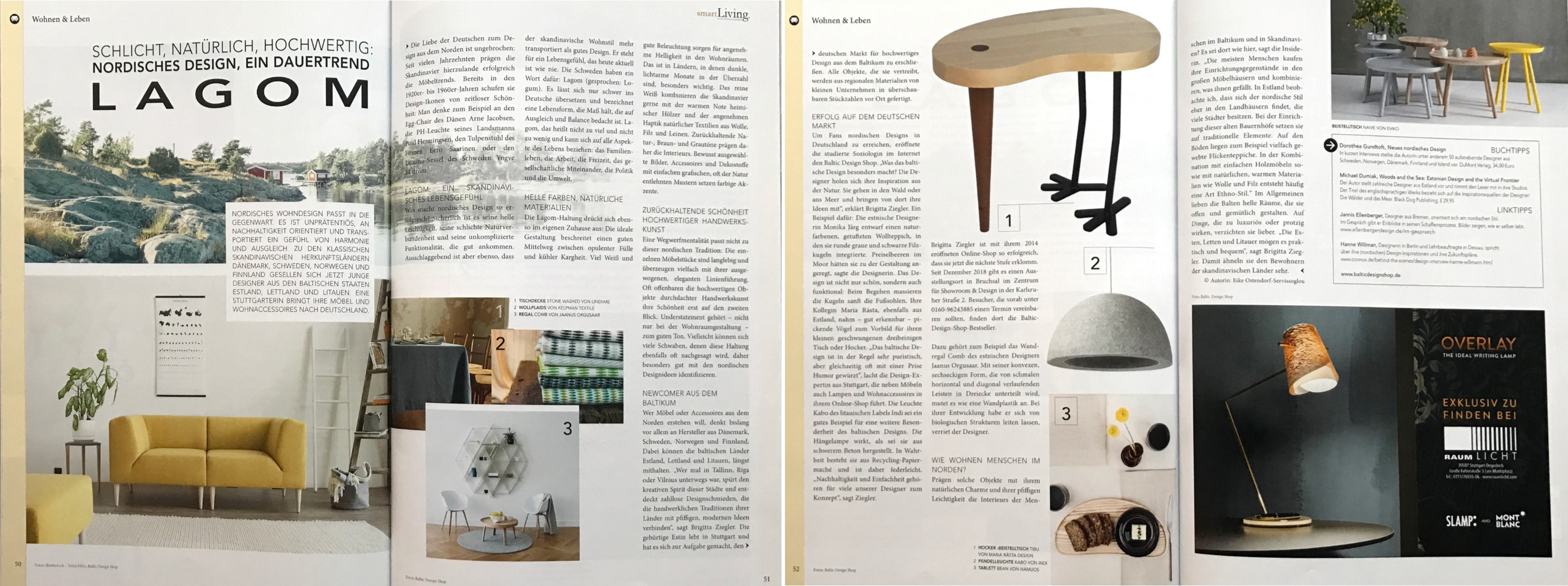 Baltic Design Shop Smart Living Magazin