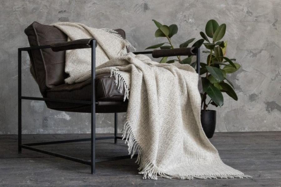 Wolldecke im Skandi-Look für Wohn-und Schlafzimmer