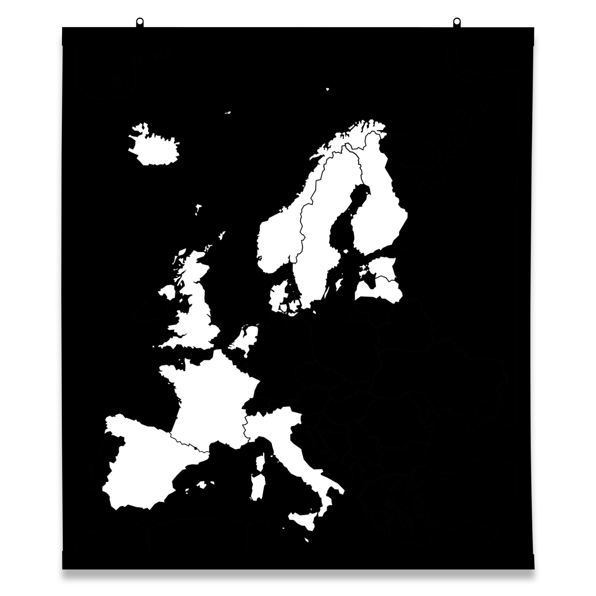 Karte Europa Schwarz Weiss.Europakarte In Schwarz Weiss Neue Produkte Im Shop