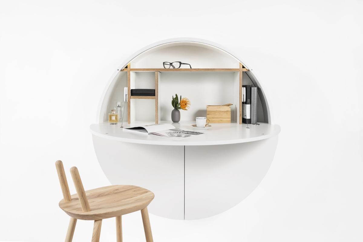 Schreibtisch Home-Office Wand weiß kaufen