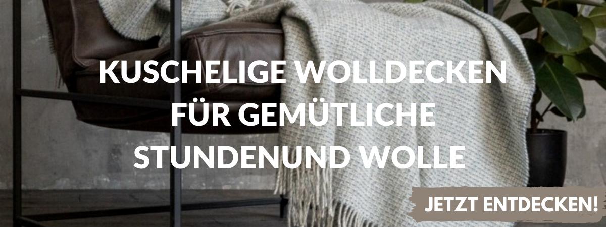 Wohntextilien aus Leinen, Baumwolle und Wolle