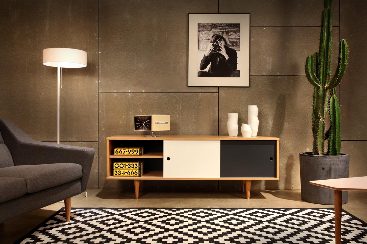Moderne Retro-Möbel im Skandi-Stil