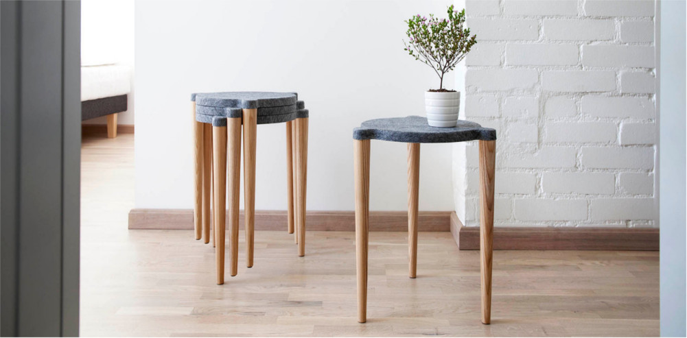 Hocker DOT 4er Set