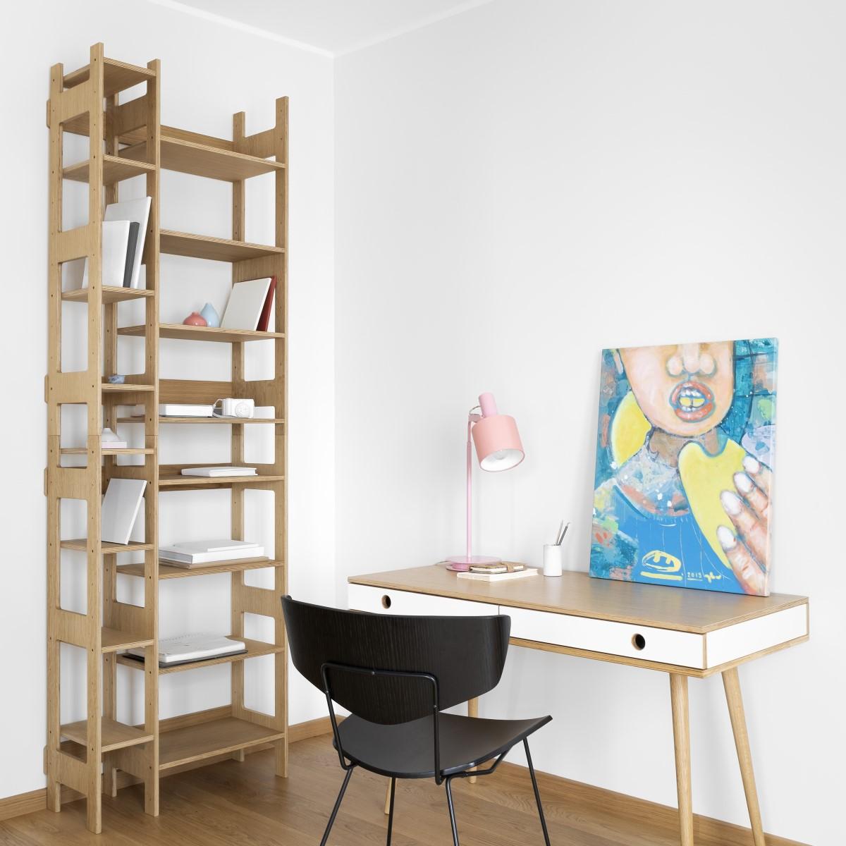 Schreibtisch Man Holz Design weiß Radis