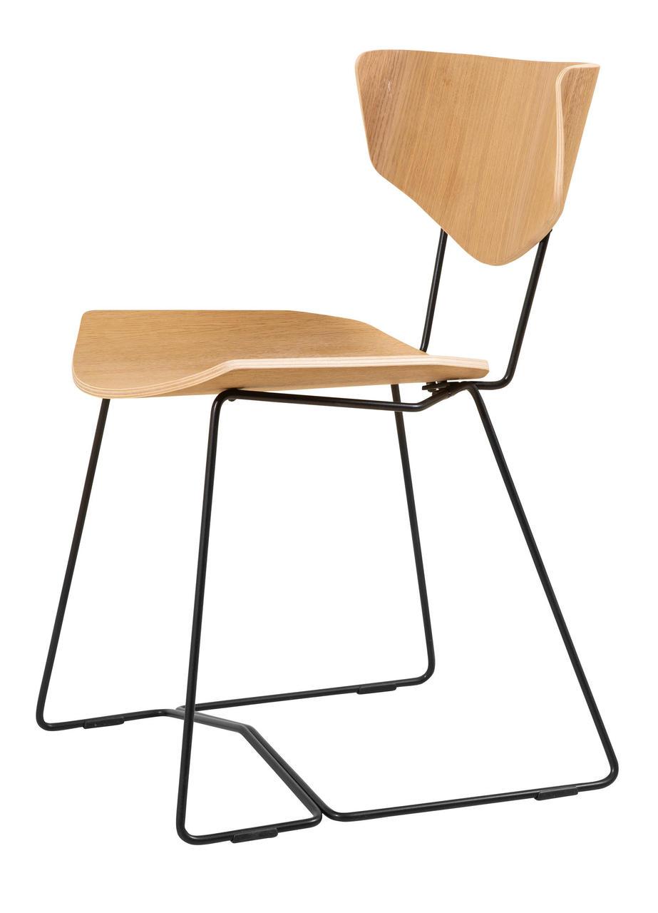 Esszimmer Stuhl Holz Metall skandinavisch