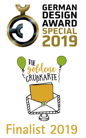 dabelino - ausgezeichnet mit dem German Design Award Special 2019 und Finalist für Die goldene Grußkarte 2019
