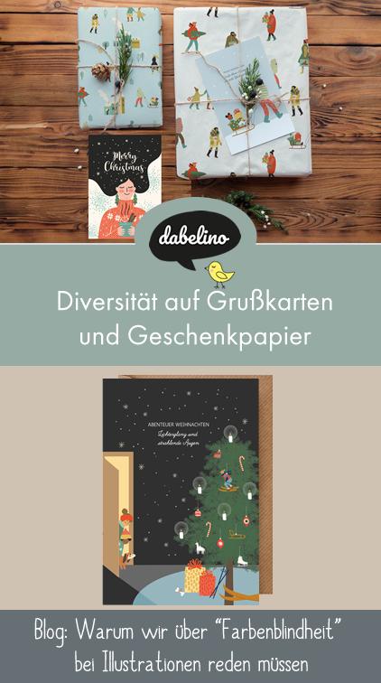 Diversität auf Grußkarten und Geschenkpapier: Über Farbenblindheit und Diversity in Illustrationen (für Kinder)   dabelino.de