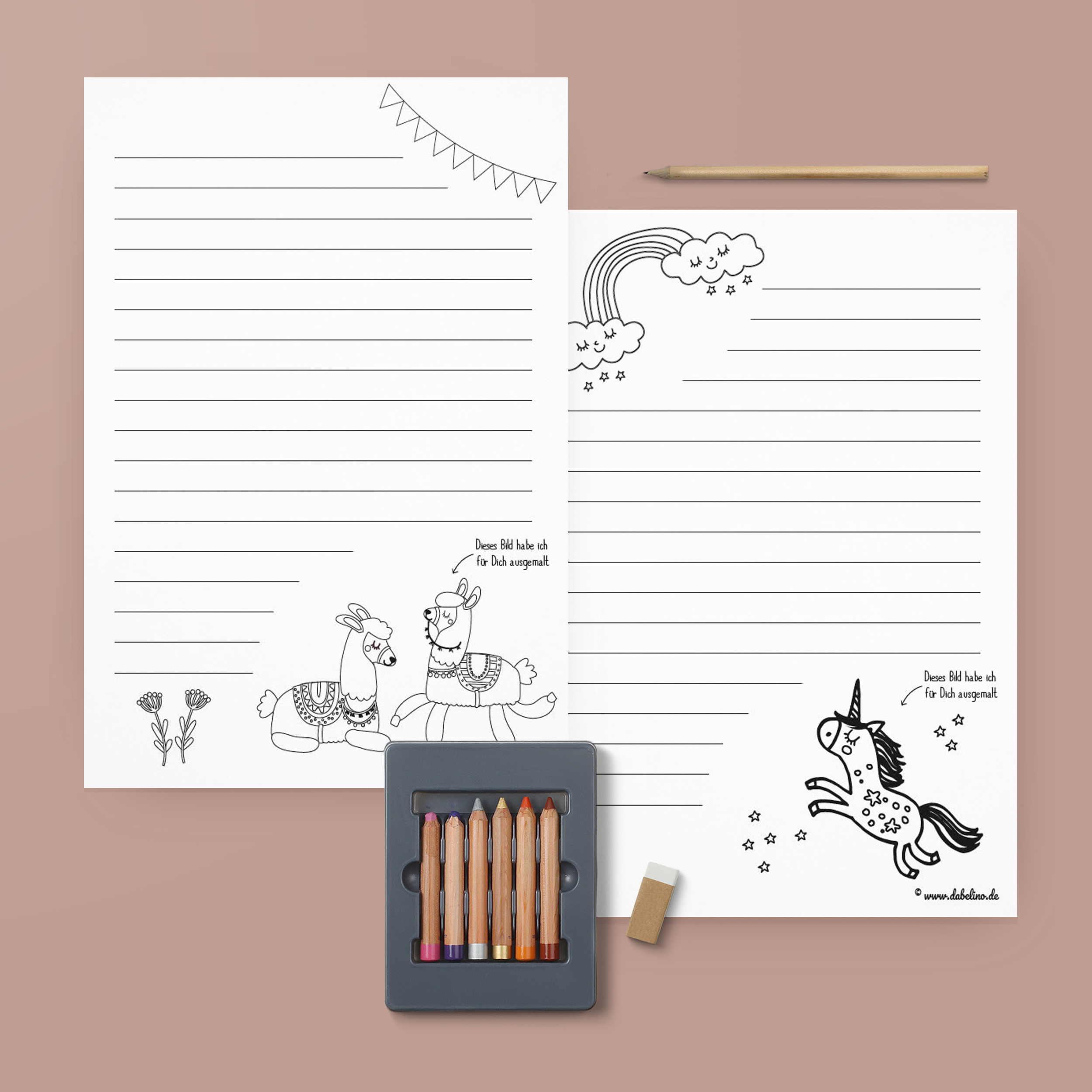 briefpapier vorlage kinder