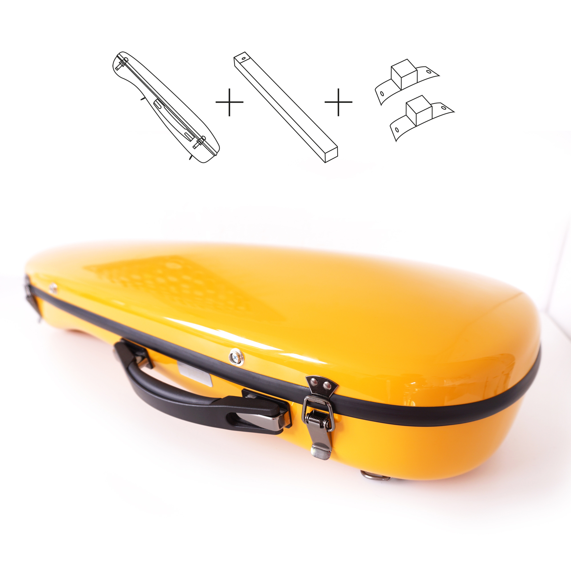 Zu den gelben Violin Flight Cases im Set • masuratini