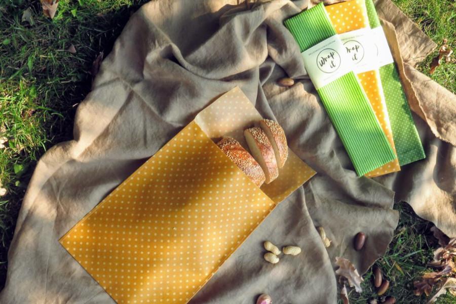 Brottüte aus Bienenwachstuch personalisiert