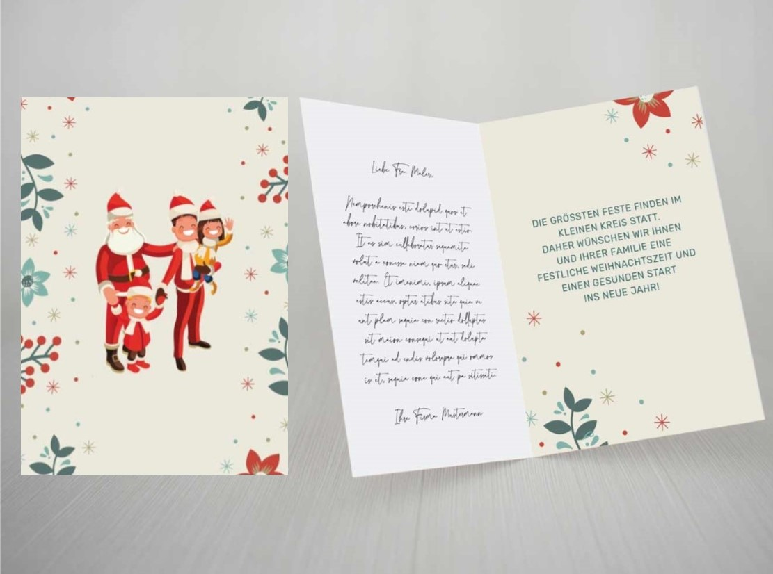 Weihnachtskarte Spruch Corona Firma