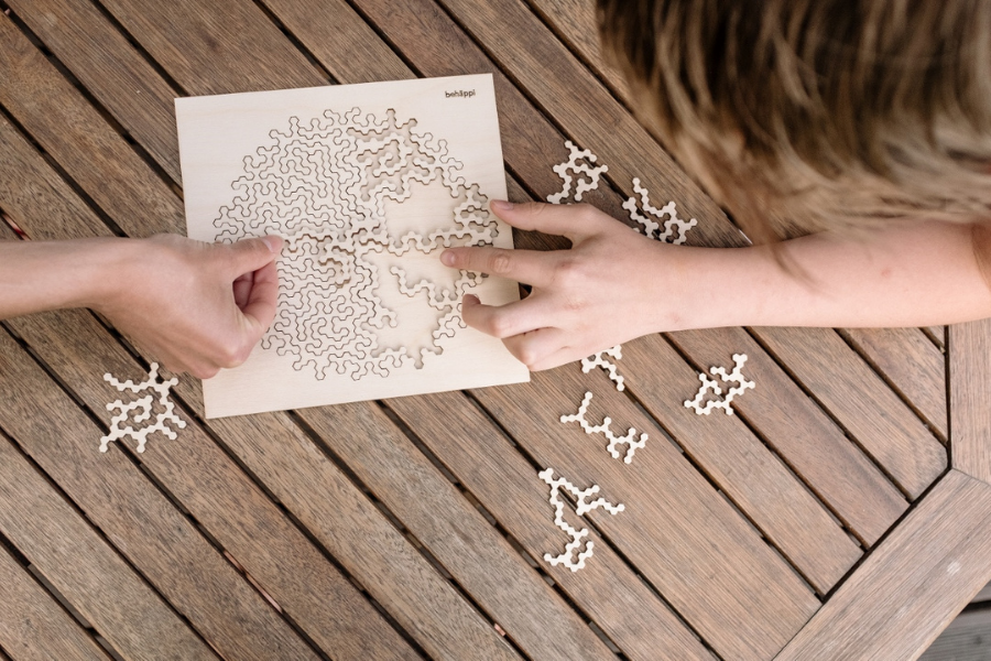 Geschenke für Teamevents - Holzpuzzle BeHäppi