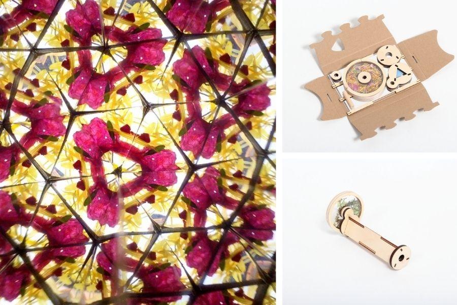 Werbegeschenk Mitarbeiter Corona: Kaleidoskop Flowerscope