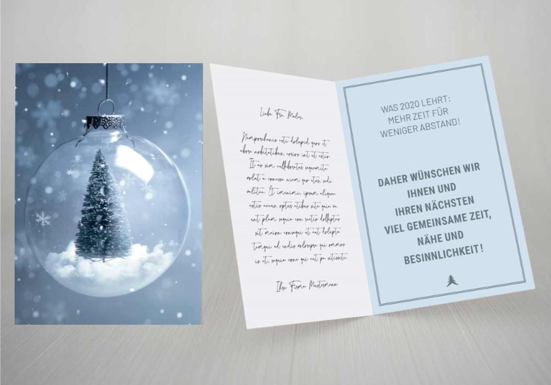 Weihnachtskarte Sprüche Corona Kunden & Mitarbeiter
