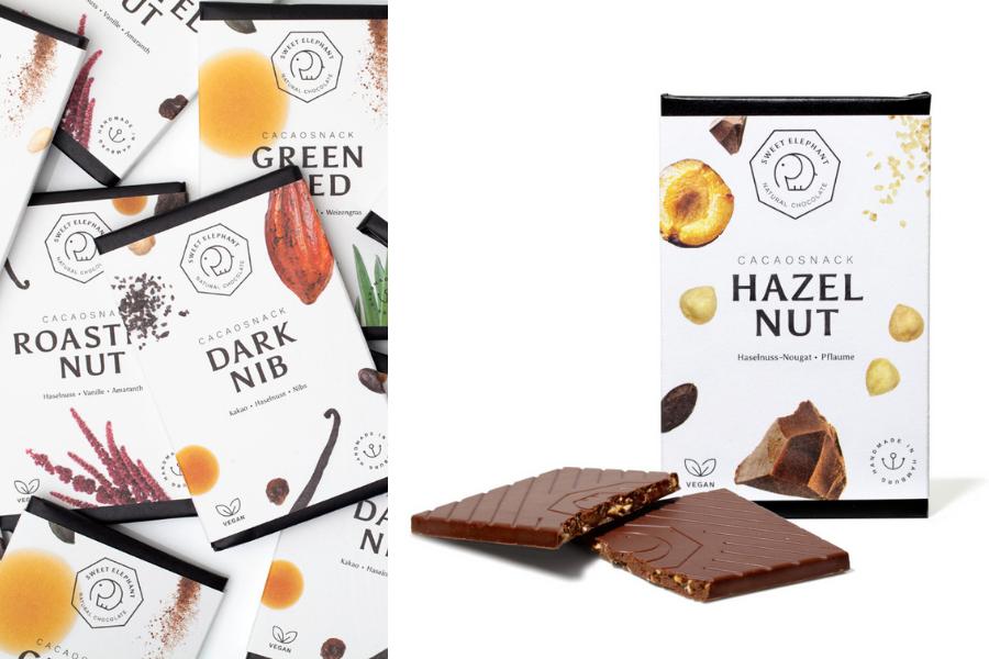 Nussbeerschokolade als Werbegeschenk