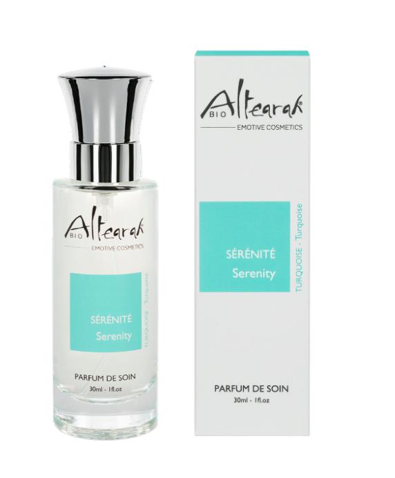 Das Bio-Parfüm mit dem Wellnessduft in Türkis beruhigt den Geist und sorgt für Gelassenheit | ALTEARAH - Zertifizierte Naturkosmetik aus der Provence
