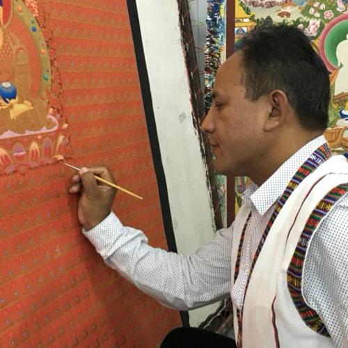 Karsang Lama, Thanka-Maler in Kathmandu