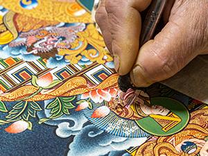 Handzeichnung in Karsang Lama Werkstatt