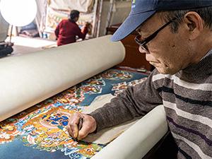 Mitarbeiter Karsang Lama Werkstatt