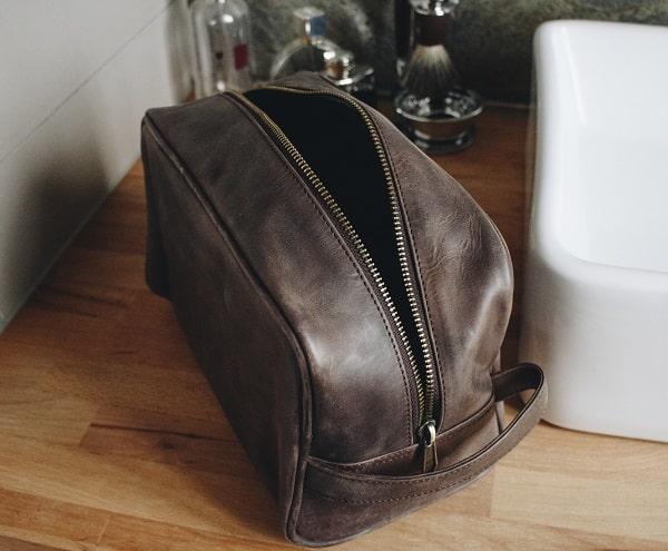 Wash Bag Leather