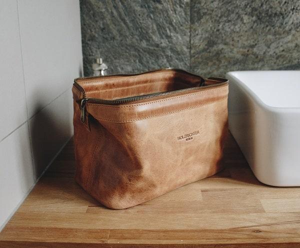 Leather Toilet Bag