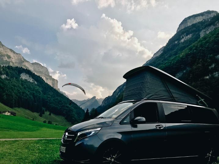 Auf Reisen mit dem Mercedes Van