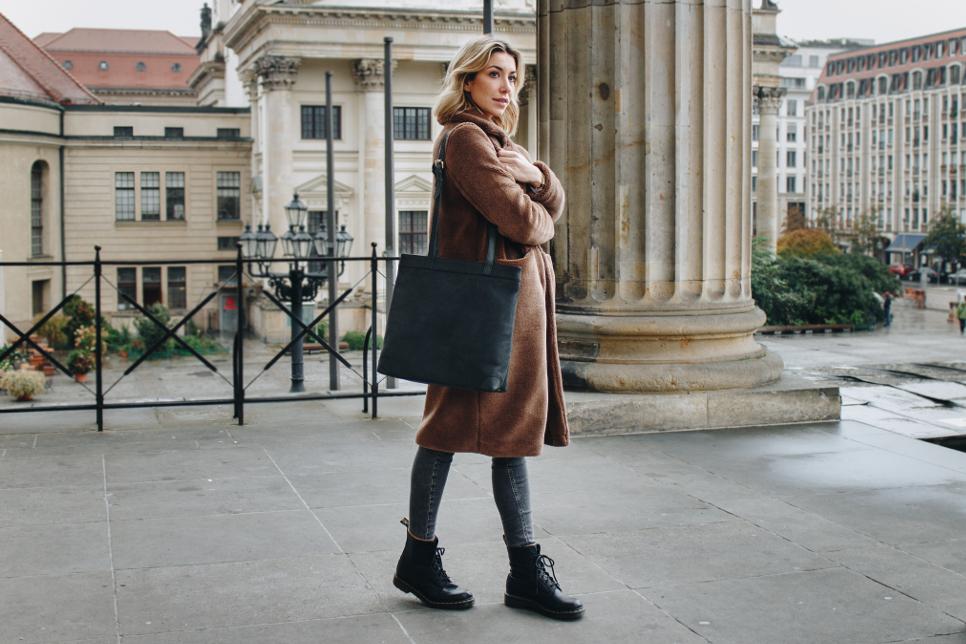 Shopper Handtasche aus Leder für Damen