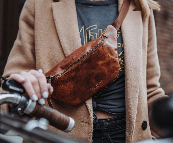 Gürteltasche cognac