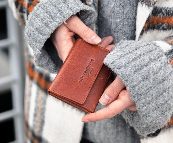 Damen Slim Wallet Leder