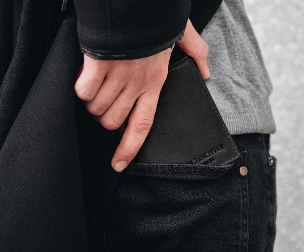 Slim Wallet aus Leder