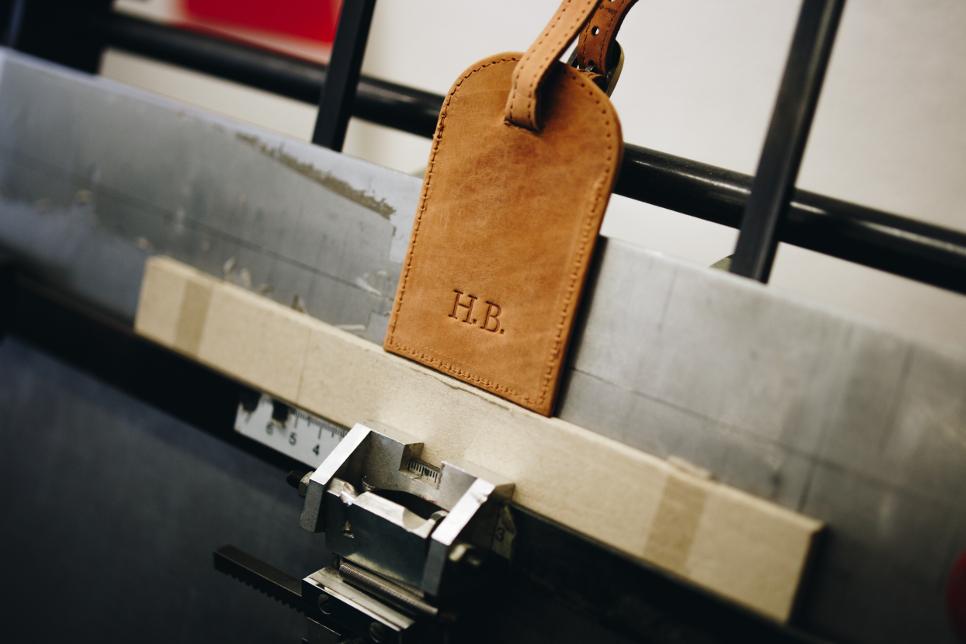 Adressanhänger aus Leder