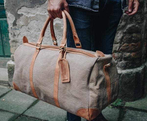 Herren Weekender Reisetasche aus Segeltuch Canvas
