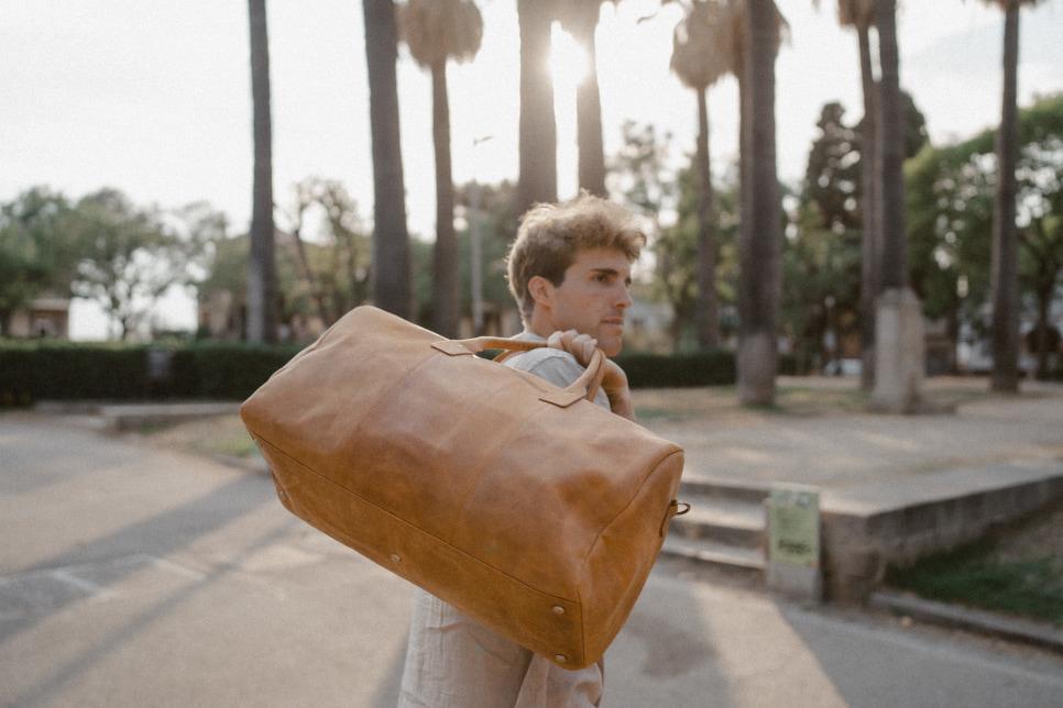 Herren Reisetasche Leder
