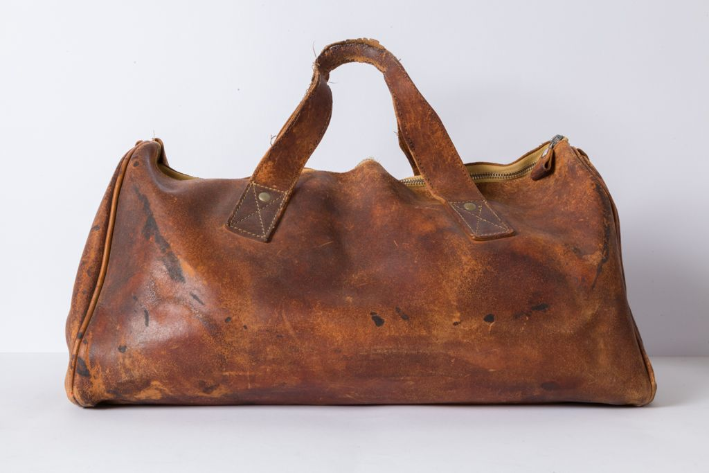 Vintage Retro Reisetasche aus Leder
