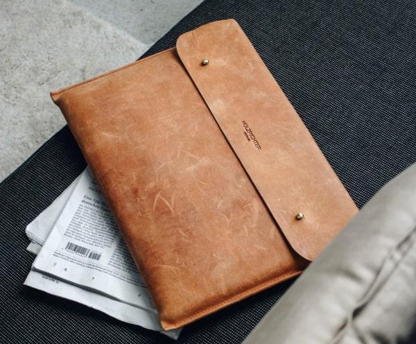 Laptop Hülle Tasche aus Leder