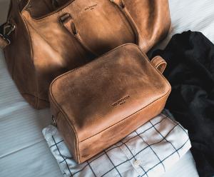 Angebot Leder Kulturtasche