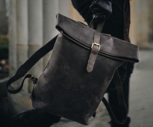 Rucksack für Herren aus Leder
