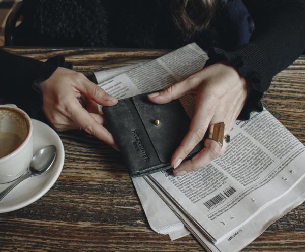 Kleines Damen Portemonnaie aus Leder