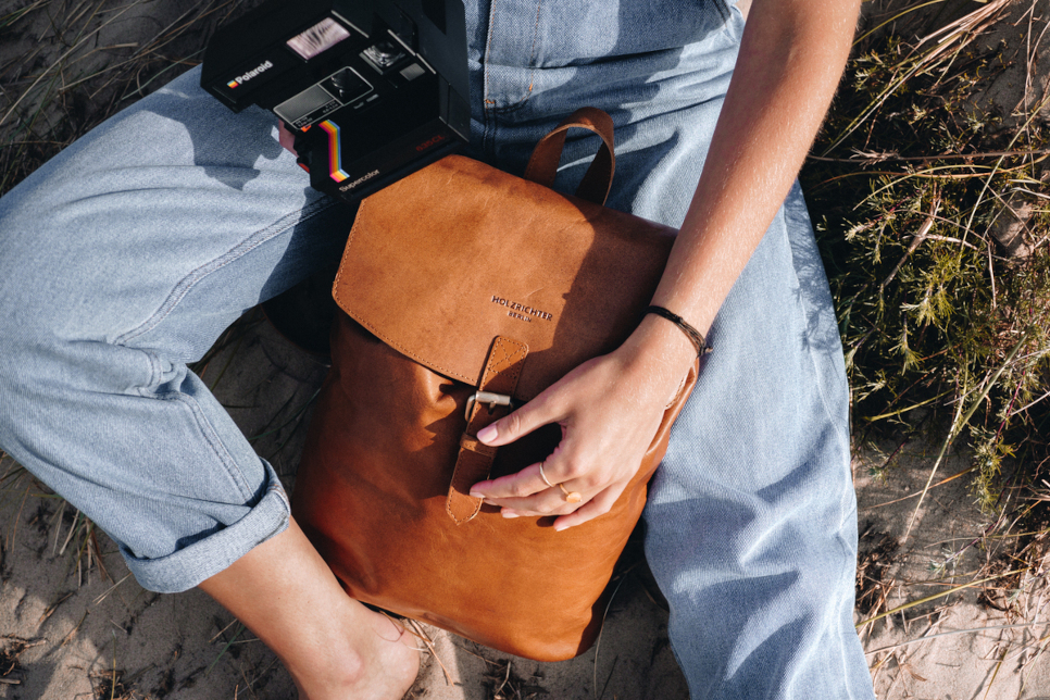 Naturleder Tasche Rucksack